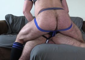 Topher Fucks and Breeds Anon Leather Pig