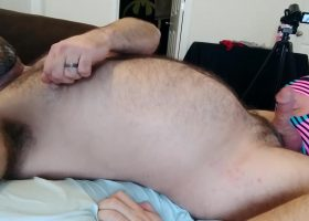 Topher Hooks Up with a Masked Anon Cub
